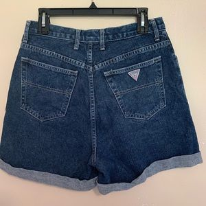 Guess vintage high waisted rolled Jean Shorts